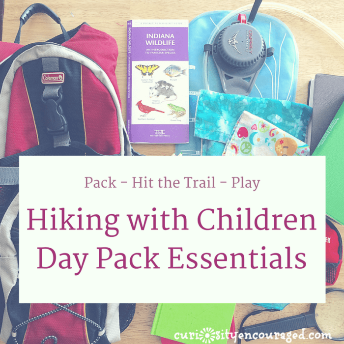 Hiking with Children, Day Pack Essentials