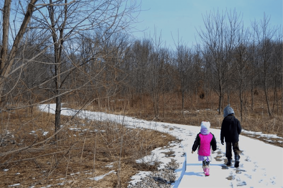 hiking with children Flatwoods Park