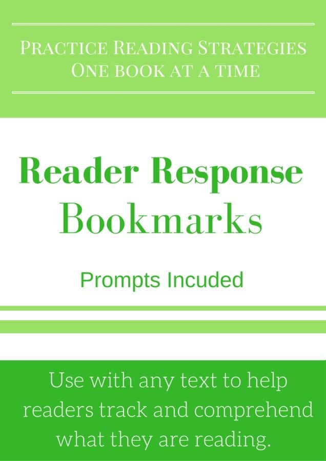Use reader response bookmarks to help students practice their good reading strategies.