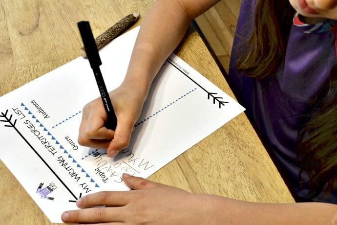 writing territories list