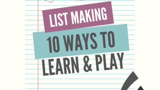 Simple Ways to Play with Words | A Love of Lists