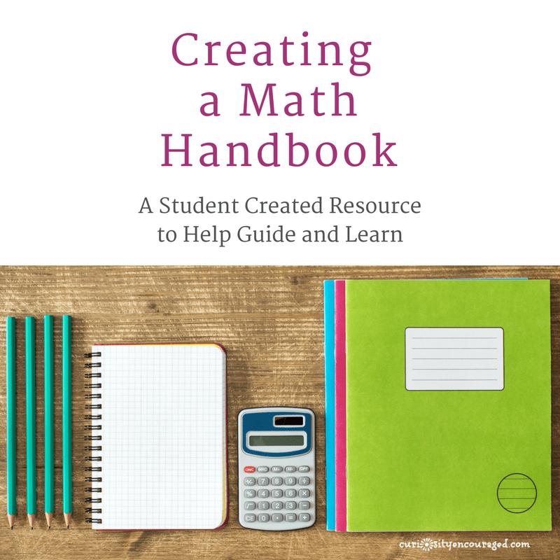 Create a Math Handbook   A Student Created Resource